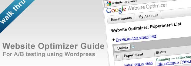 google website optimizer giode for wordpress
