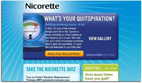 facebook nicorette