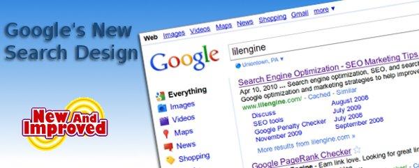 googles new search design