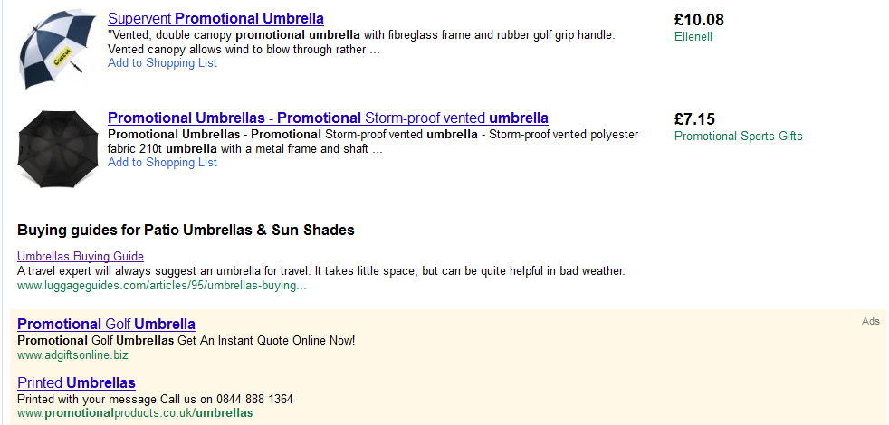 Google shows Buying Guides in Shopping SERPS