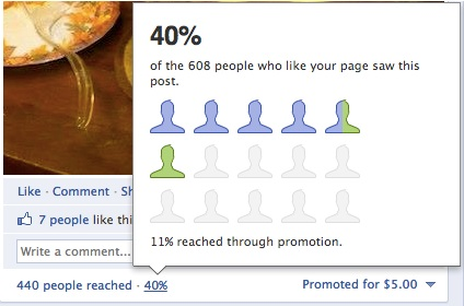Facebook Promoted Post Followers Reached