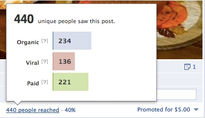 Facebook Promoted Post Number of Views