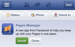 Install Facebook Pages Manager Notification in News Feed