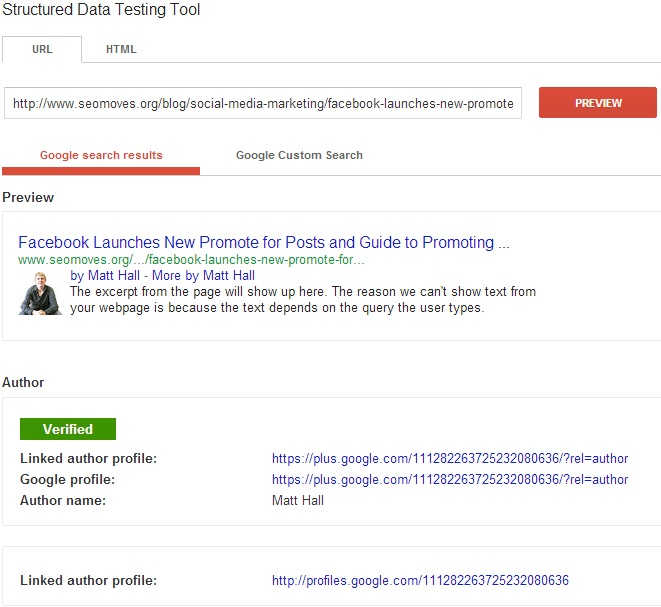 SEO Moves - Author Credit for Multiple Authors Example - Verified