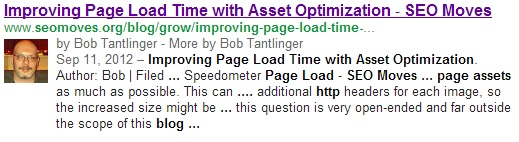 SEO Moves - Author Credit in SERP Example