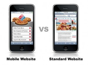 Mobile vs Standard Website