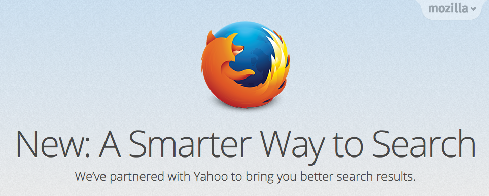 Firefox Switches to Yahoo Search