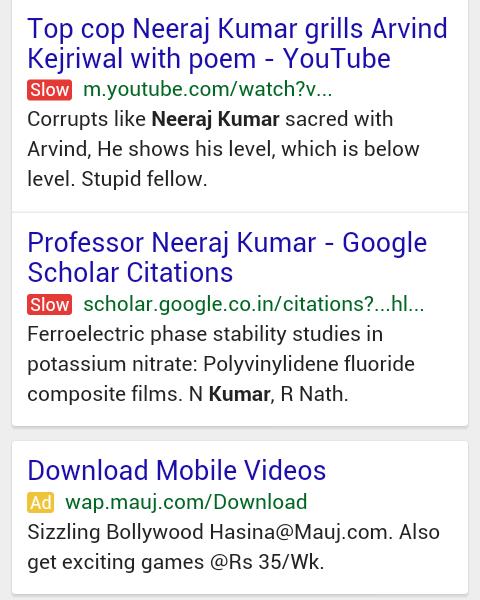 Google Mobile - Slow Label